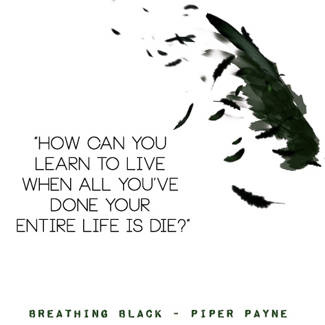 Breathing Black Quote Die