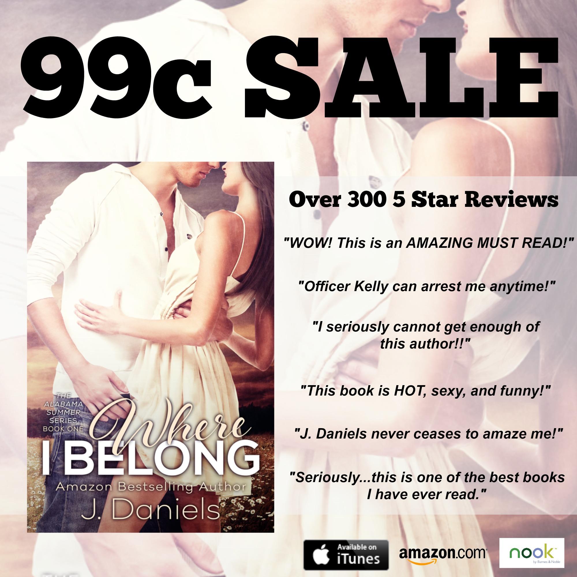 99c Sale Promo - Where I Belong