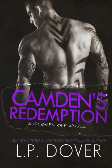 Cover Reveal: Camden's Redemption (Gloves Off #4) by L.P. Dover