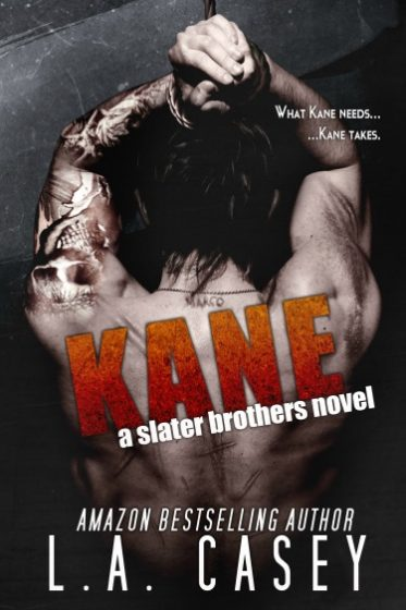 Cover Reveal: Kane (Slater Brothers #3) by L.A. Casey