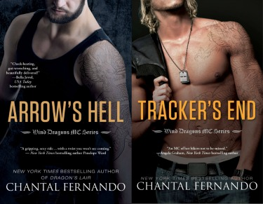 Double Cover Reveal: Arrow's Hell & Tracker's End (Wind Dragons MC, #2-3)  by Chantal Fernando