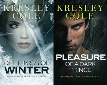 Cover Re-Reveals: Deep Kiss Of Winter & Pleasure of a Dark Prince (Immortals After Dark #8 & #9) by Kresley Cole