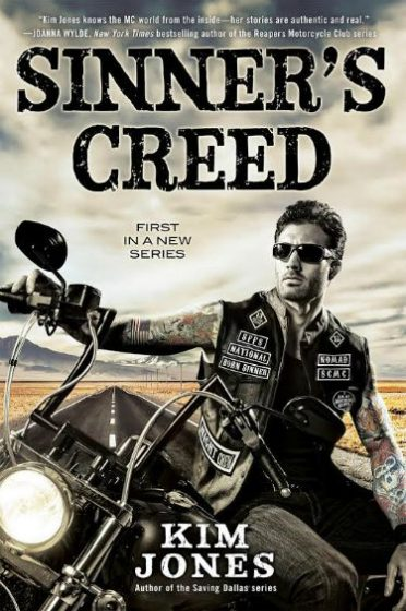 Cover Reveal: Sinner's Creed (Sinner's Creed MC #1) by Kim Jones