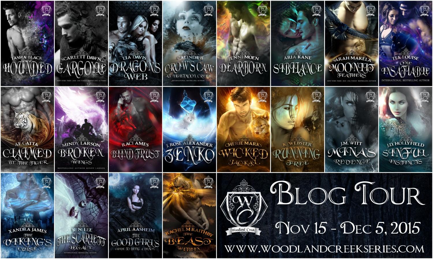 Blog Tour Banner with Covers