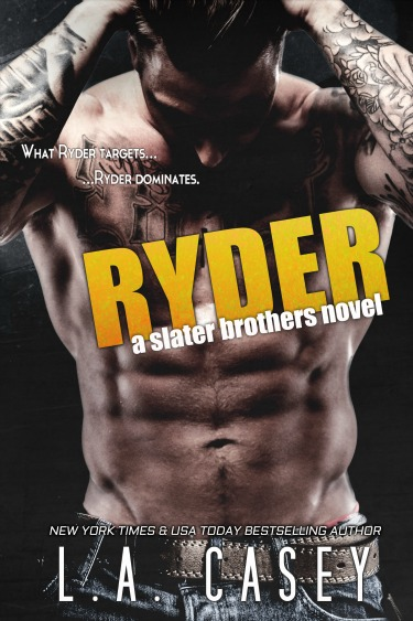 Cover Reveal & Giveaway: Ryder (Slater Brothers #4) by L.A. Casey