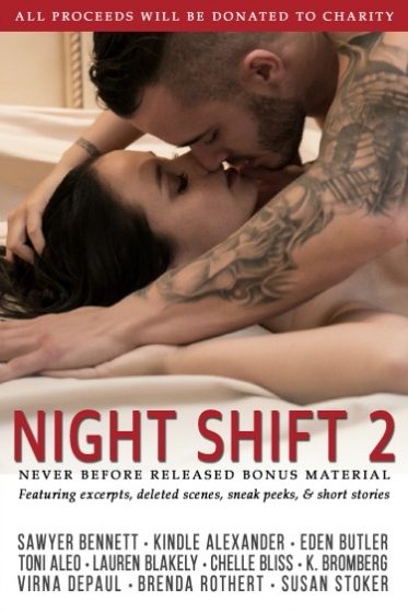 Cover Reveal: Night Shift 2 by Sawyer Bennett, Kindle Alexander, Eden Butler, Toni Aleo, Lauren Blakely, Chelle Bliss, K Bromberg, Virna DePaul, Brenda Rothert & Susan Stoker