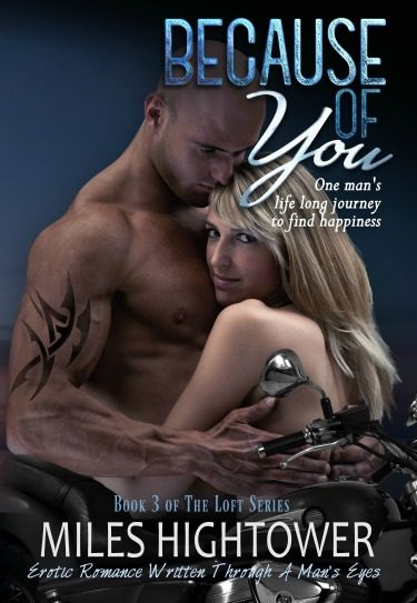 Release Day Blitz: Because of You (The Loft #3) by Miles Hightower