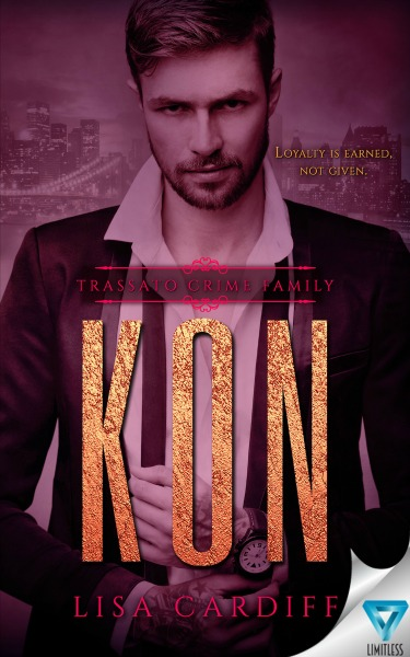 Cover Reveal: Kon (Trassato Crime Family #2) by Lisa Cardiff