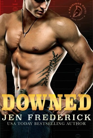 Cover Reveal: Downed (Gridiron #3) by Jen Frederick