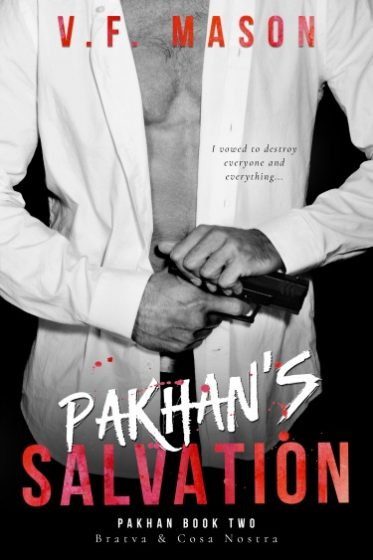 Cover Reveal & Giveaway: Pakhan's Salvation (Pakhan Duet #2) by VF Mason