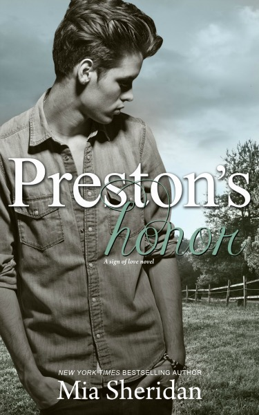 Cover Reveal: Preston's Honor (A Sign of Love novel) by Mia Sheridan