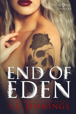 Cover Reveal: End of Eden (Se7en Sinners #2) by SL Jennings