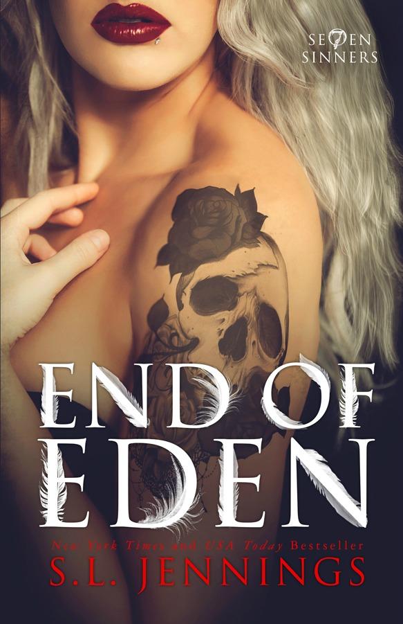 Cover Reveal: End of Eden (Se7en Sinners #2) by SL Jennings