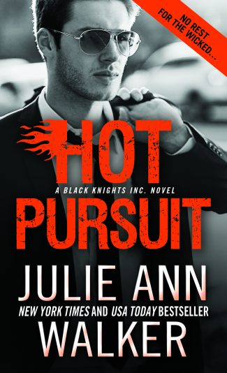 Cover Reveal: Hot Pursuit (Black Knights Inc #11) by Julie Ann Walker