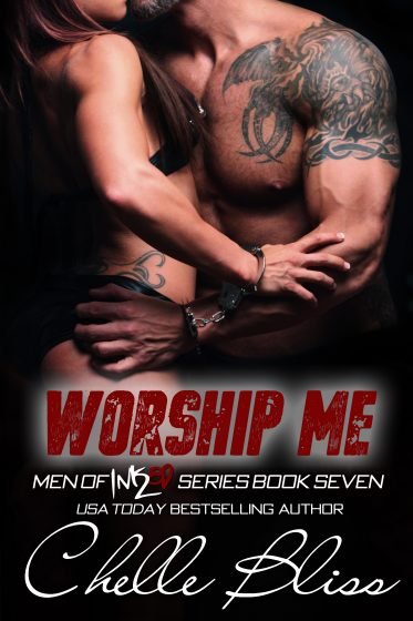 Cover Reveal: Worship Me (Men of Inked #7) by Chelle Bliss