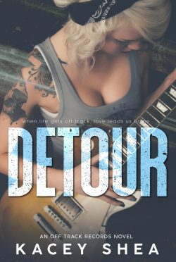 Cover Reveal & Giveaway: Detour (Off Track Records #1) by Kacey Shea