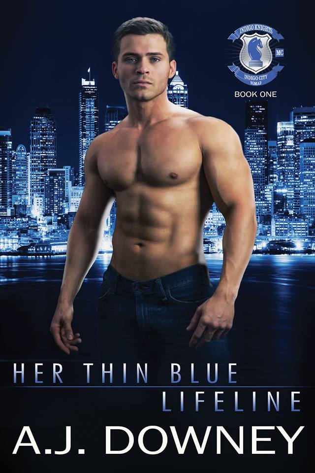 Cover Reveal: Her Thin Blue Lifeline (Indigo Knights #1) by AJ Downey