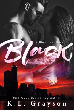 Cover Reveal & Giveaway: Black (Bloodlines #1) by KL Grayson