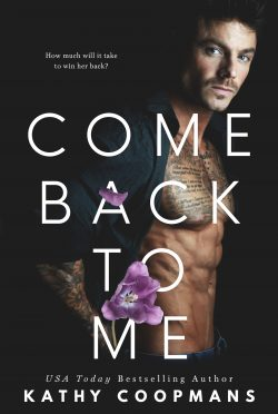 Cover Reveal: Come Back To Me by Kathy Coopmans