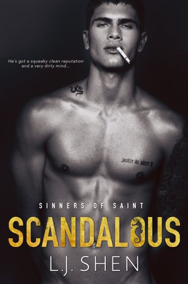 Cover Reveal: Scandalous (Sinners of Saint #3) by LJ Shen