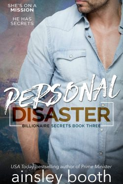 Cover Reveal: Personal Disaster (Billionaire Secrets #3) by Ainsley Booth