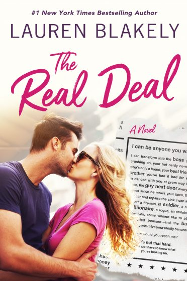 Cover Reveal: The Real Deal by Lauren Blakely