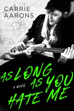 Cover Reveal: As Long As You Hate Me by Carrie Aarons
