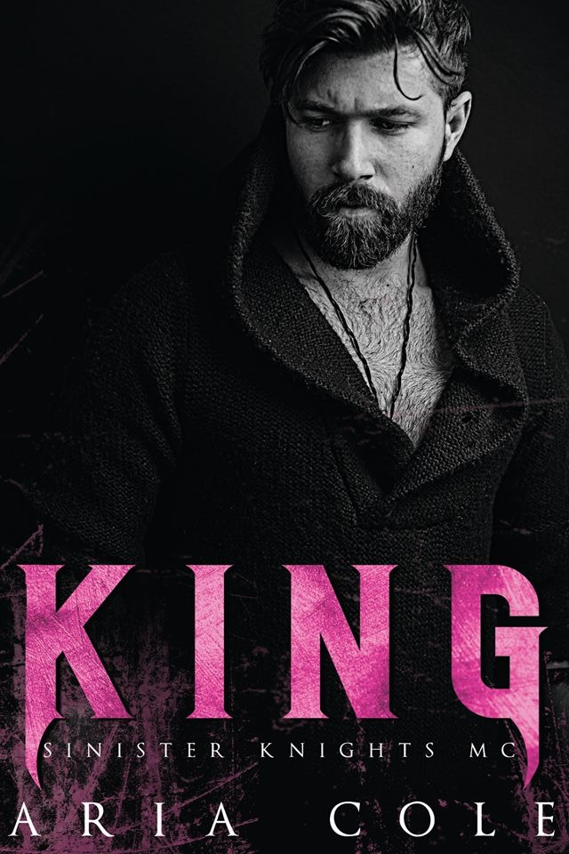 Cover Reveal: King (Sinister Knights MC #2) by Aria Cole