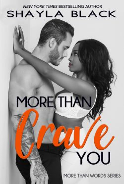 Cover Reveal: More Than Crave You (More Than Words #4) by Shayla Black