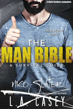 Cover Reveal: The Man Bible: A Survival Guide (Slater Brothers #6.5) by LA Casey