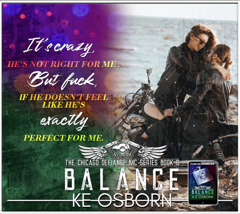 Release Day Blitz & Giveaway: Balance (Chicago Defiance MC #6) by KE