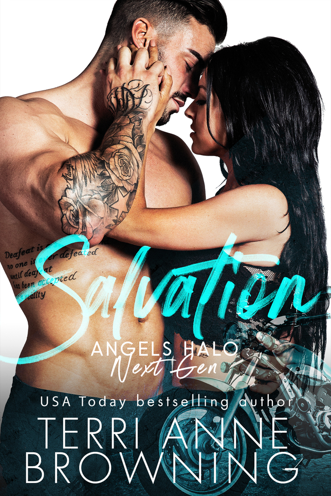 Release Day Blitz: Salvation (Angels Halo MC Next Gen #1) by Terri Anne Browning