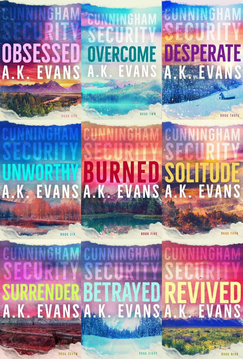 Triple Cover Reveal: Surrender, Betrayed & Revived (Cunningham Security 7-9) by AK Evans
