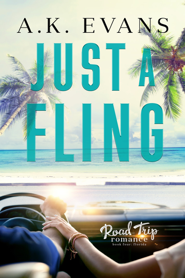 Release Day Blitz: Just a Fling (Road Trip Romance #4) by AK Evans