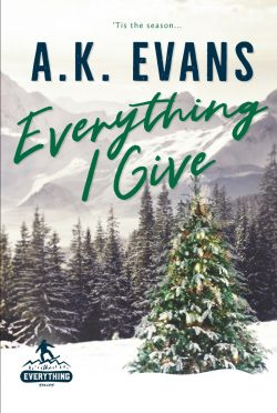 Cover Reveal: Everything I Give (Everything #5) by AK Evans