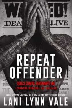 Cover Reveal: Repeat Offender (Souls Chapel Revenants MC #1) by Lani Lynn Vale
