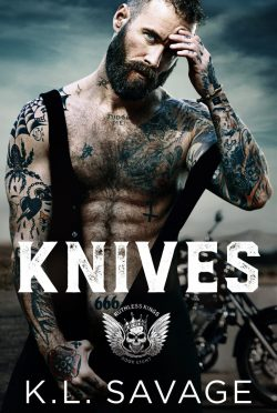Cover Reveal: Knives (Ruthless Kings MC #9) by KL Savage