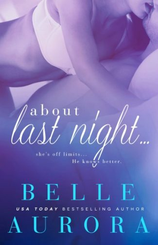 Release Day Blitz & Giveaway: About Last Night… by Belle Aurora