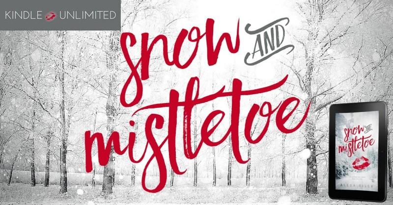 snow and mistletoe banner