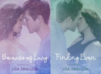 Cover Reveals: Because of Lucy & Finding Evan (Butterfly Days #1 & #2) by Lisa Swallow