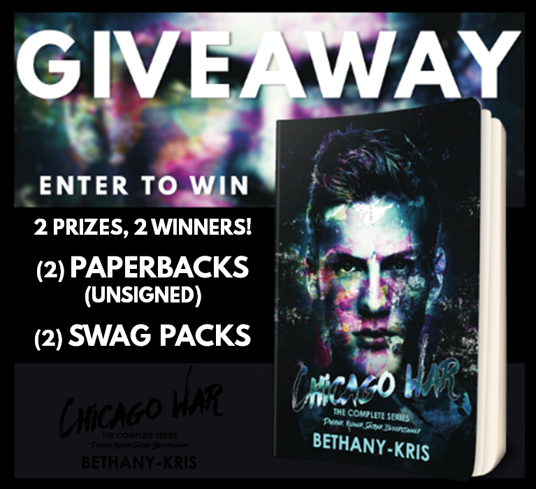Chicago War Series Tour Giveaway Graphic