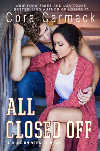 Cover Reveal: All Closed Off (Rusk University #4) by Cora Carmack) by Cora Carmack