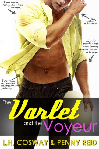 Cover Reveal: The Varlet and the Voyeur (Rugby #4) by LH Cosway & Penny Reid
