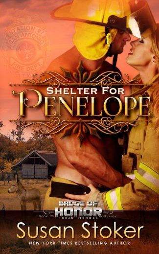 Cover Reveal: Shelter for Penelope (Badge of Honor: Texas Heroes #15) by Susan Stoker
