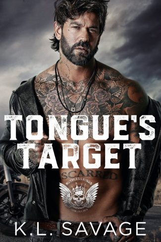 Cover Reveal: Tongue's Target (Ruthless Kings MC #11) by KL Savage